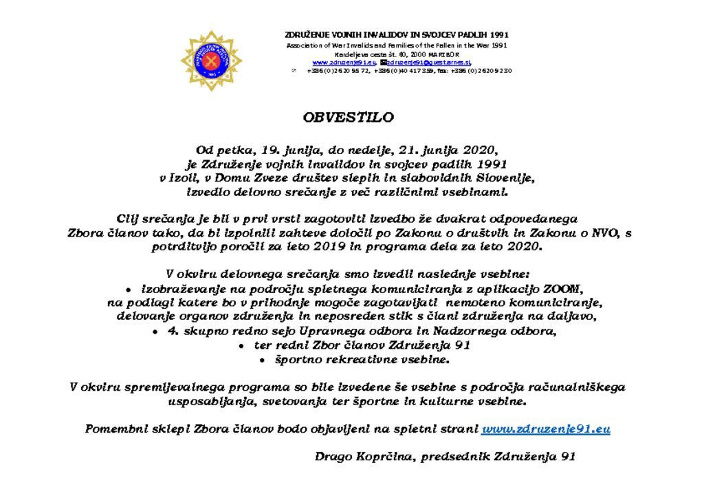 thumbnail of SS – Obvestilo o izvedbi Zbora članov – A