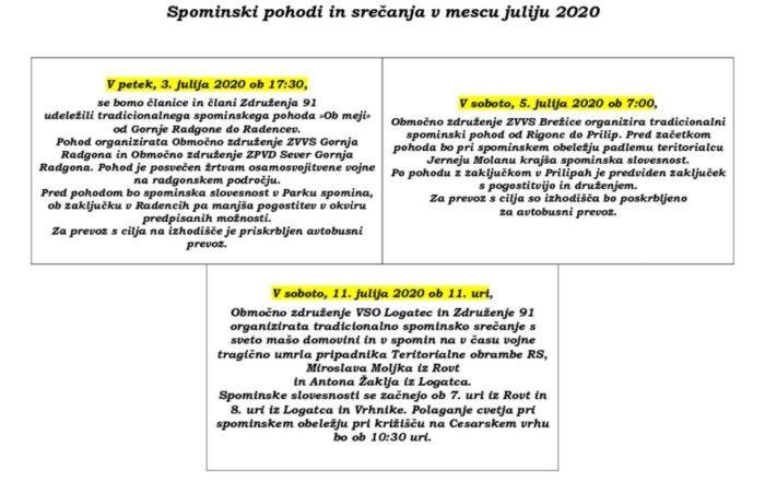 thumbnail of SS – Spominski pohodi in srečanja v mescu juliju 2020