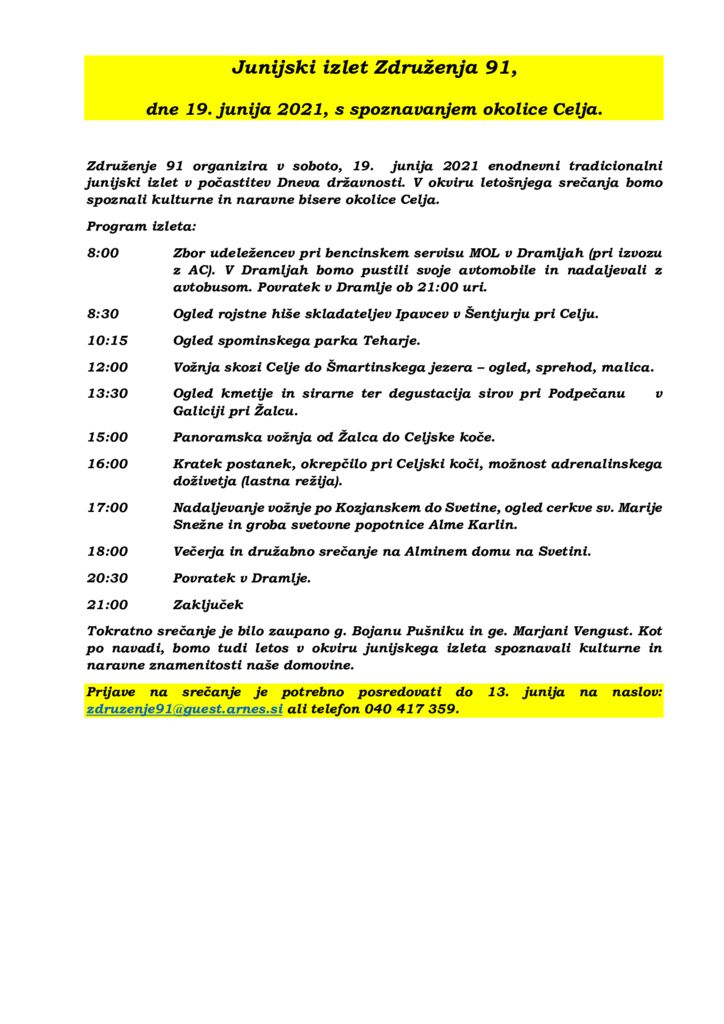thumbnail of Z91 – Program dogodkov